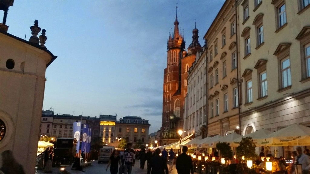 Poland krakow night 2