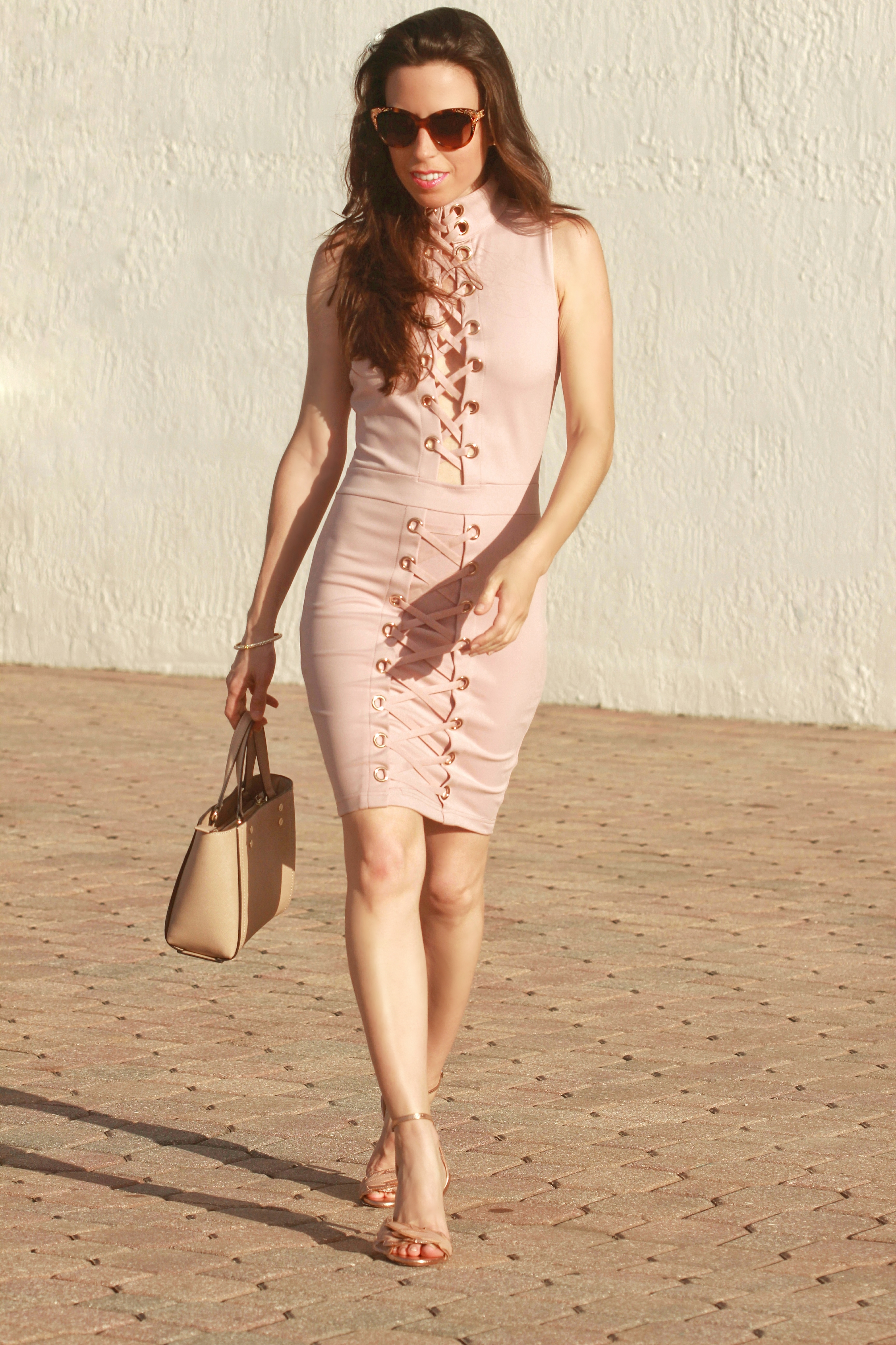 lace up bodycon
