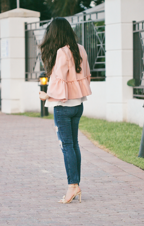 topshop ruffle jacket miami blogger