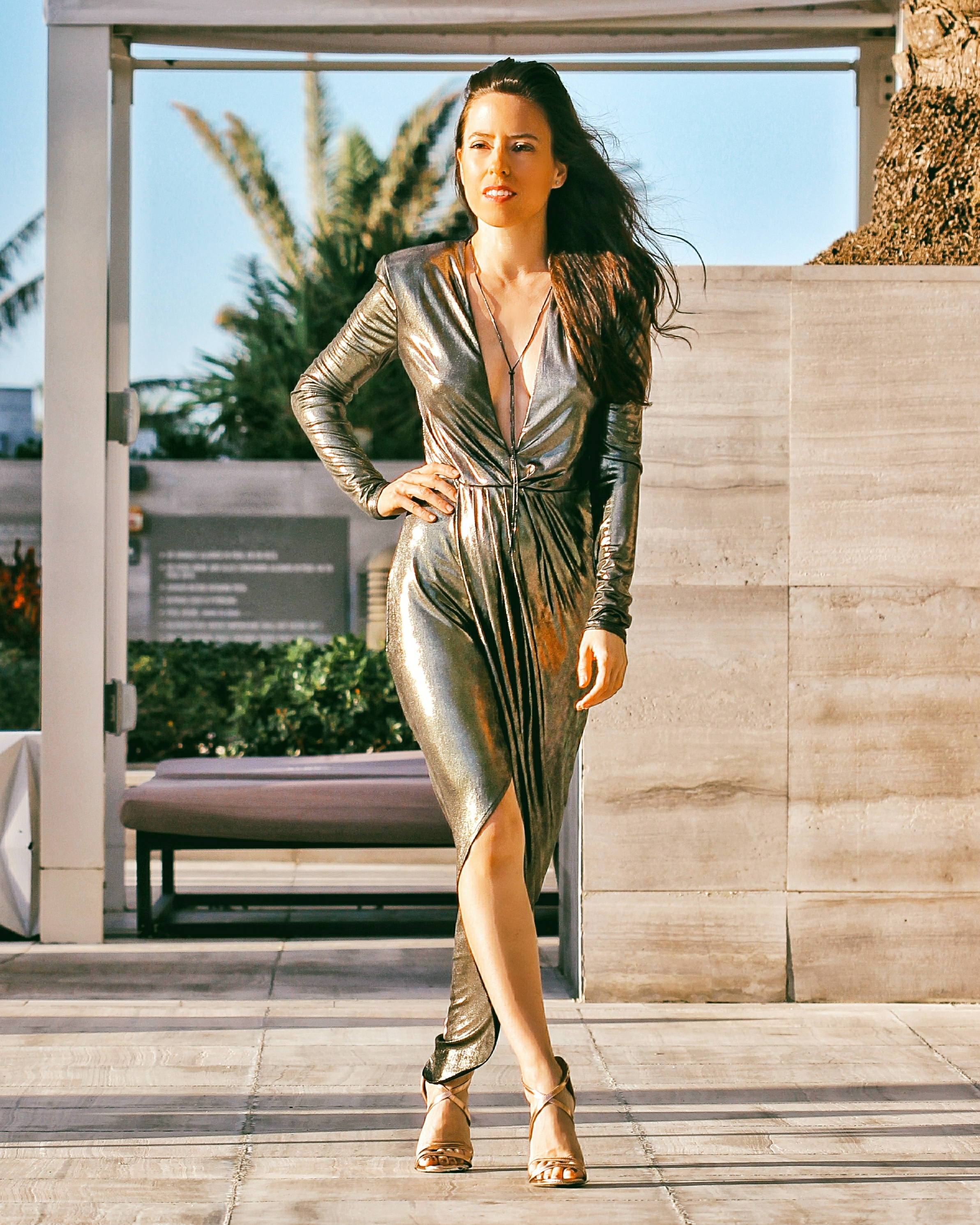 Metallic Dresses for New Year's Eve