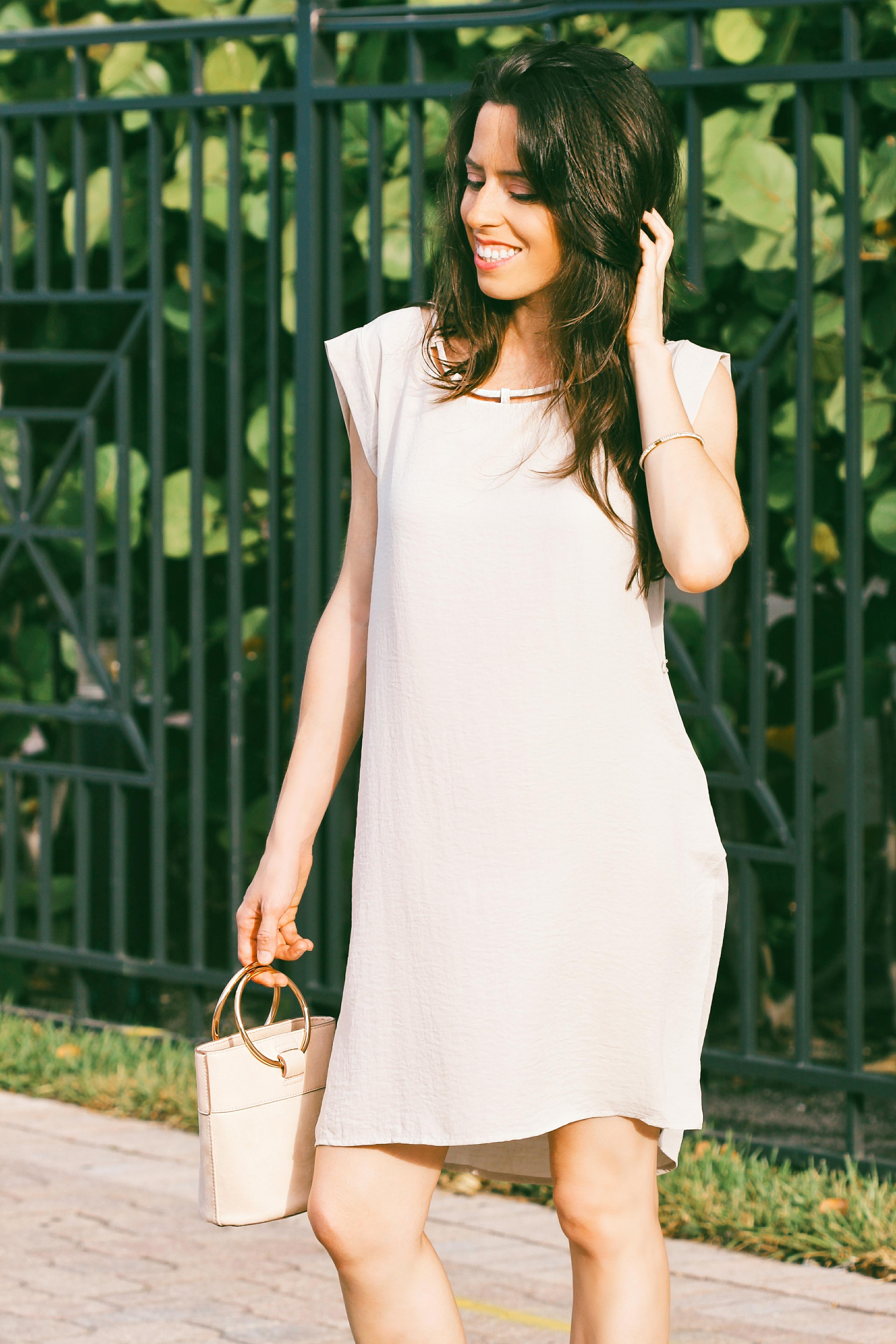 midi dresses neutral dress