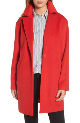 red coat wool blend