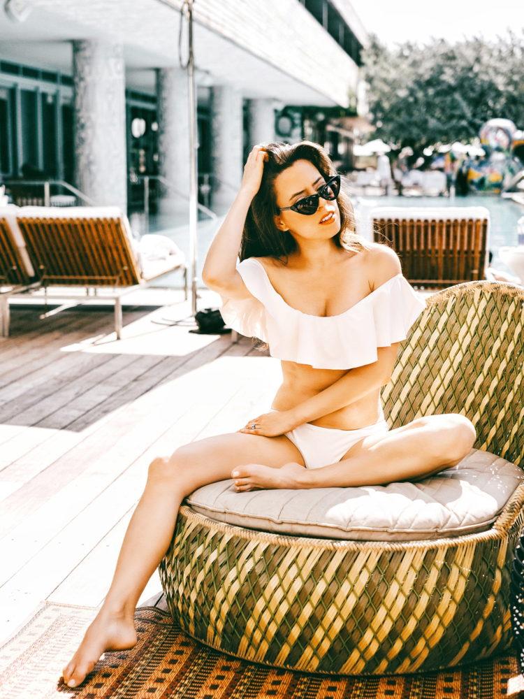 Ruffle Off The Shoulder Bikini