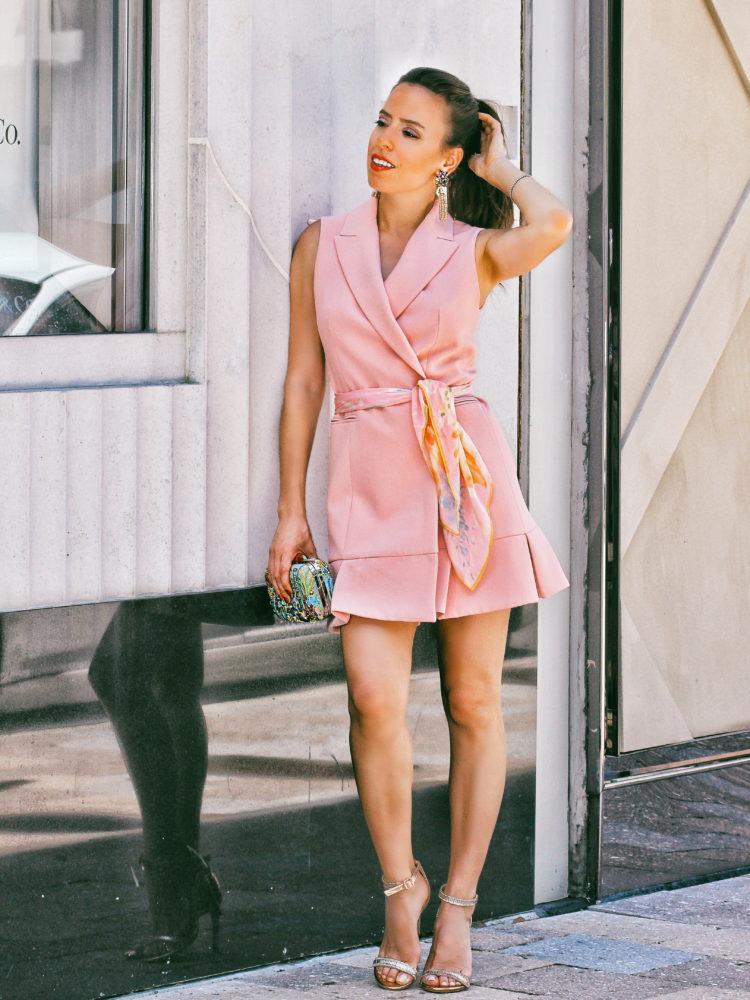 Pink Pleated Waistcoat