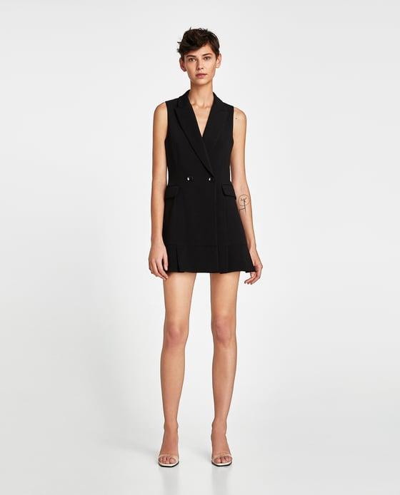 black pleated waistcoat zara black coat