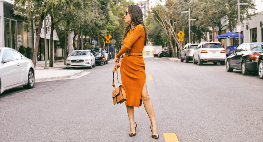 ribbed knit dress amber knit dress