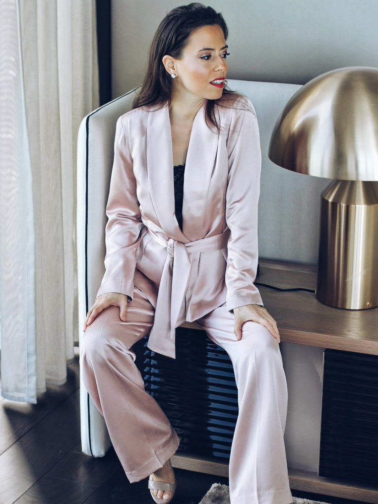 The Blush Satin Suit
